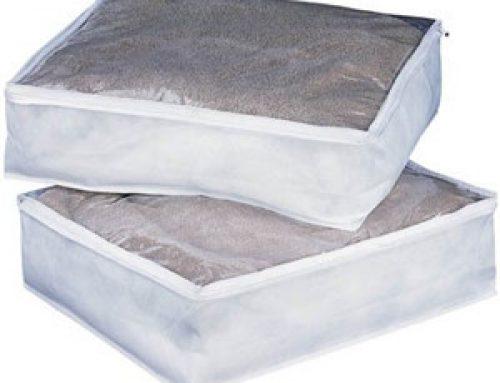 Custom clear blanket storage bag