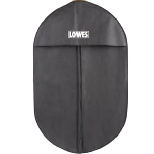 GB-022 Custom-made black pp non woven suit cover bag with lip