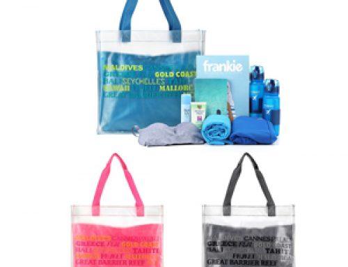 TB-002 Custom PVC transparent tote bag