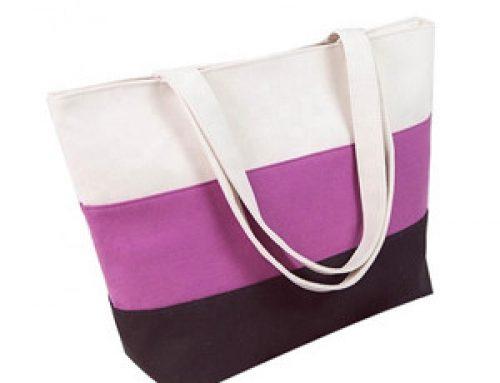 TB-028 Wholesale large zipper top canvas bag