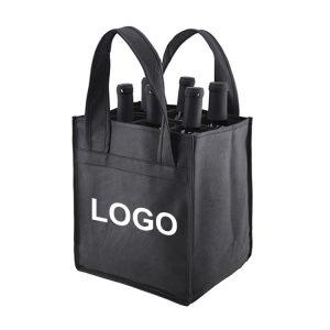 custom wine tote bags